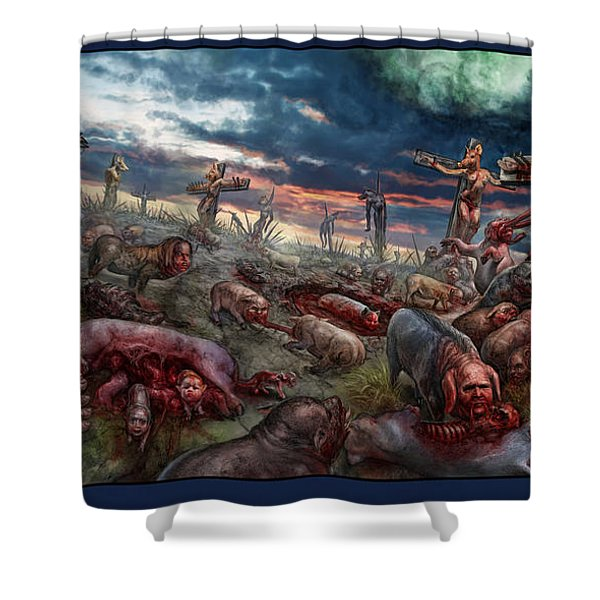 The Sacrifice Shower Curtain