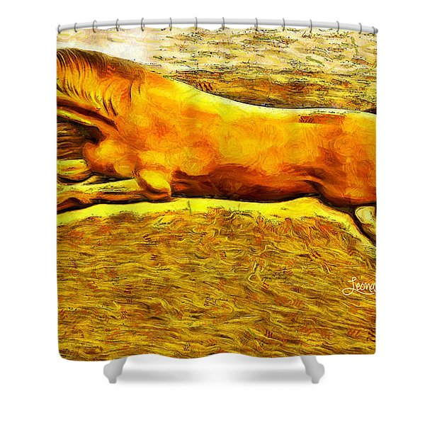 The Sand Horse Shower Curtain