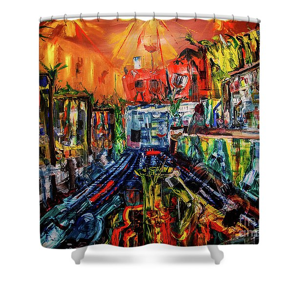 The Sangria Jug Shower Curtain