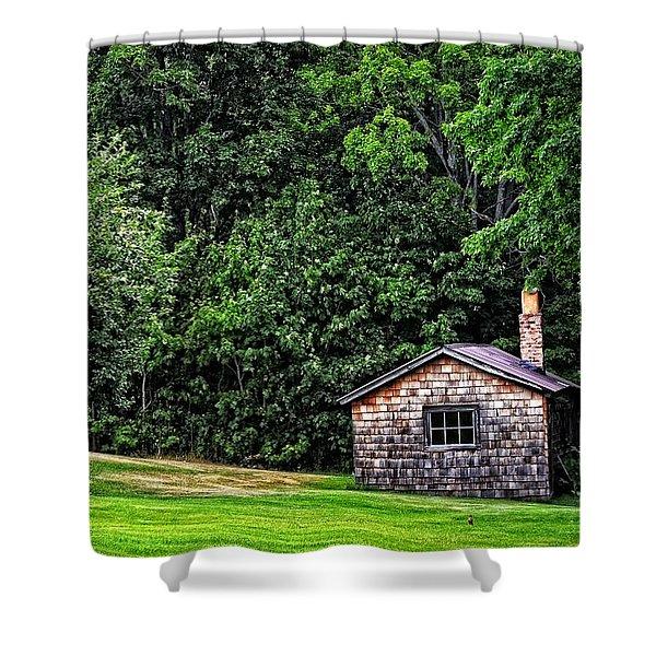 The Sauna By Sharon Cummings Shower Curtain