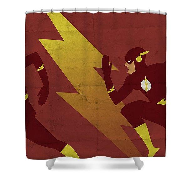 The Scarlet Speedster Shower Curtain