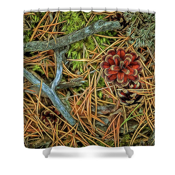 The Scent Of Pine Forest II Shower Curtain
