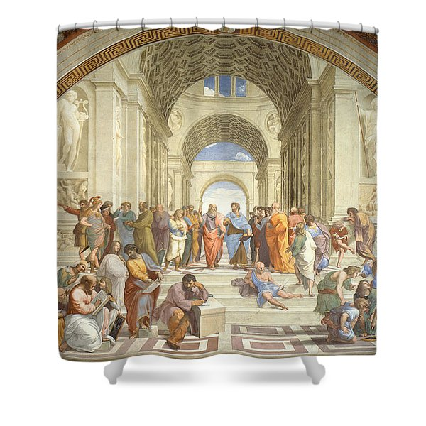 The School Of Athens, Raphael Shower Curtain