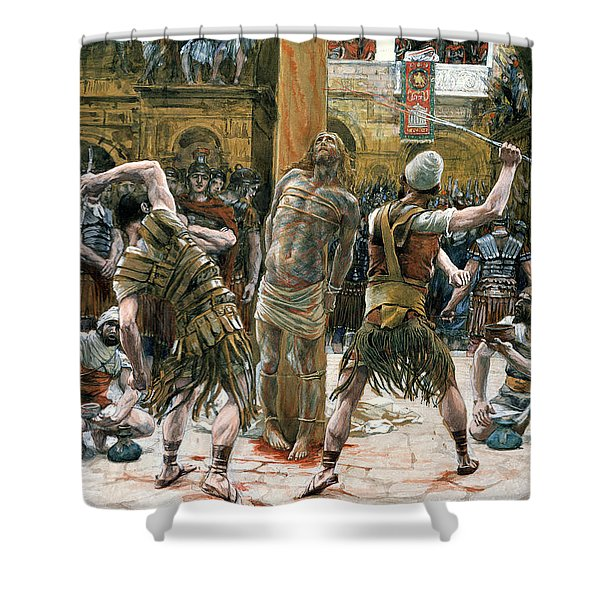The Scourging Shower Curtain