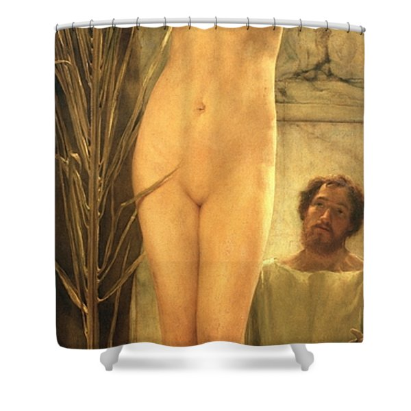 The Sculptor's Model Shower Curtain