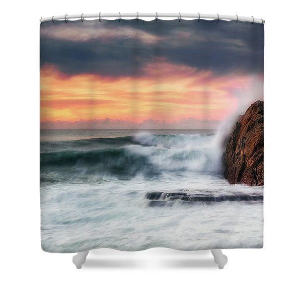 The Sea Against The Rock Shower Curtain