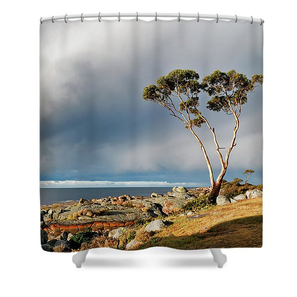 The Sea And The Sky Shower Curtain