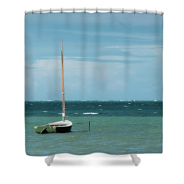 Shower Curtain featuring the photograph The Sea Calls My Name by Break The Silhouette