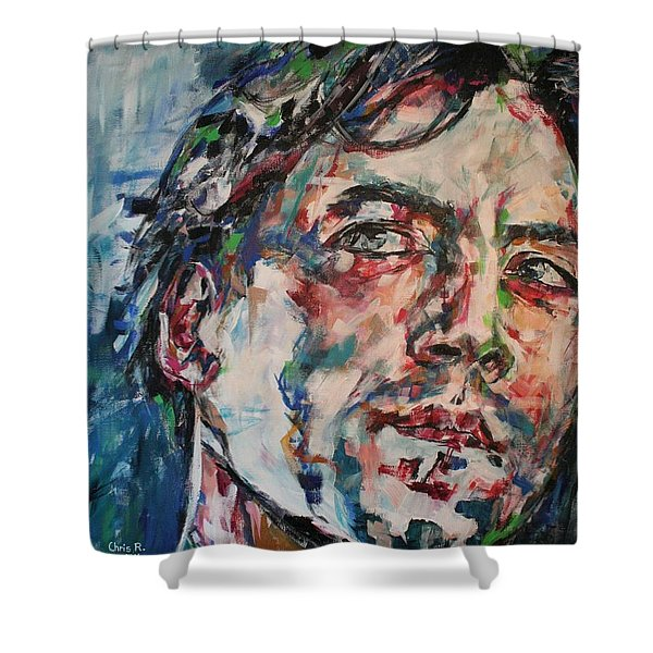 The Sea Inside Your Eyes Shower Curtain