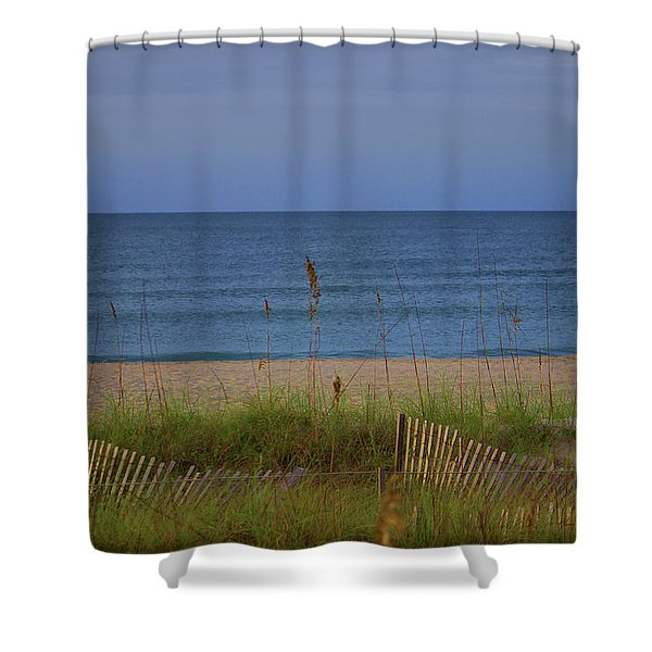 The Sea Shore Line Shower Curtain