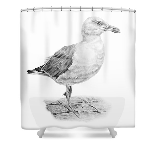The Seagull Strut Shower Curtain