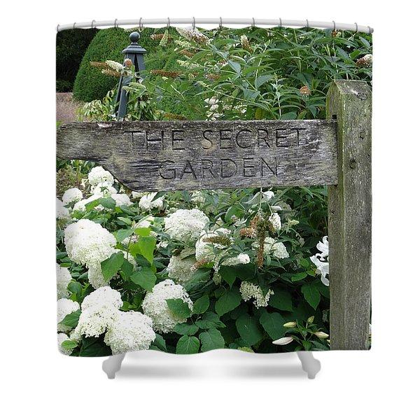 The Secret Garden Sign Shower Curtain