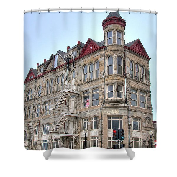 The Sedalia Trust Building Shower Curtain