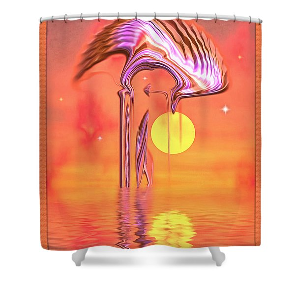 The Serenity Tree Shower Curtain