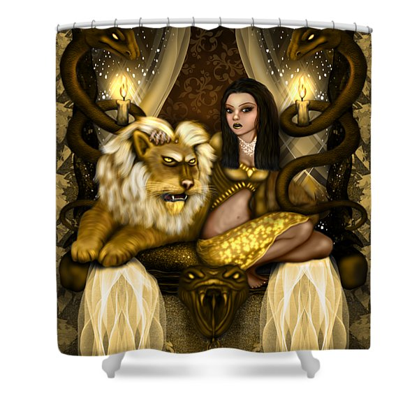 The Serpent Gateway Fantasy Art Shower Curtain