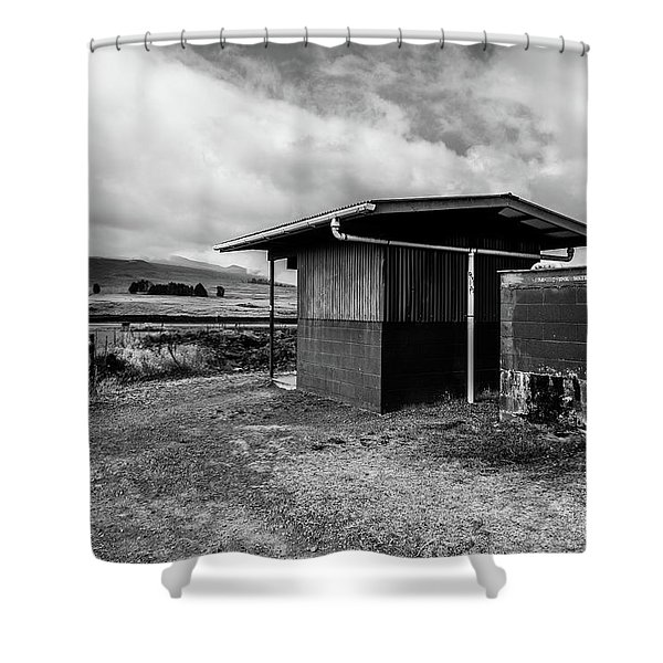 Shower Curtain featuring the photograph The Shack by Break The Silhouette