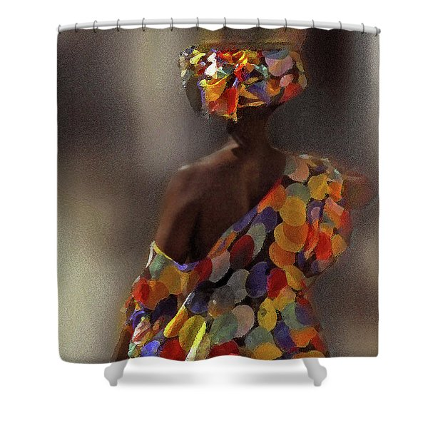 Shower Curtain featuring the photograph The Shoulder Of Africa by Wayne King