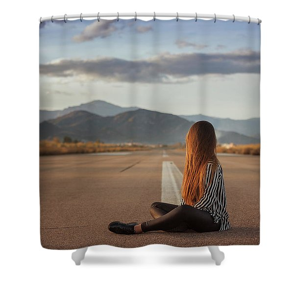 The Silence Of Solitude Shower Curtain