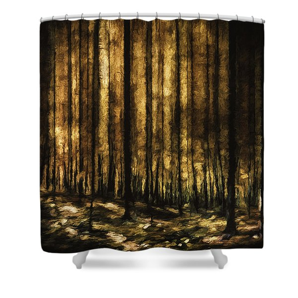 The Silent Woods Shower Curtain