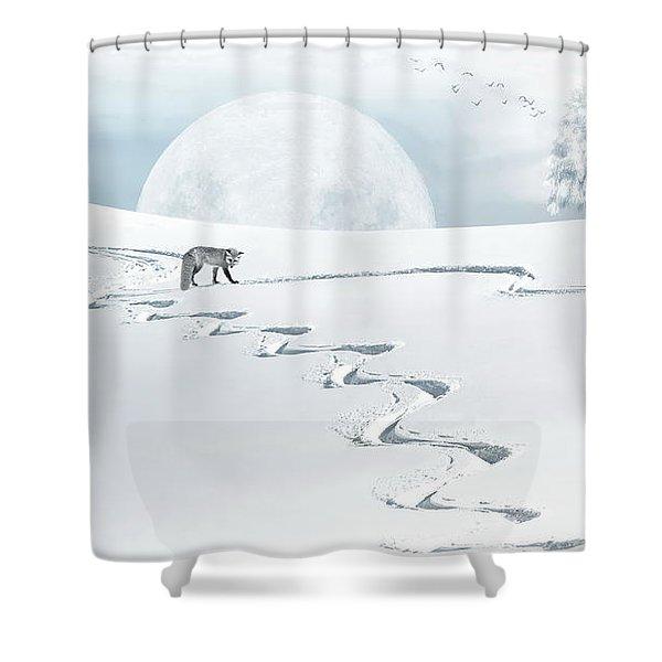 The Silver Fox Shower Curtain