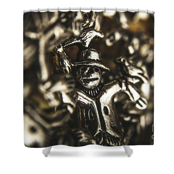The Silver Strawman Shower Curtain