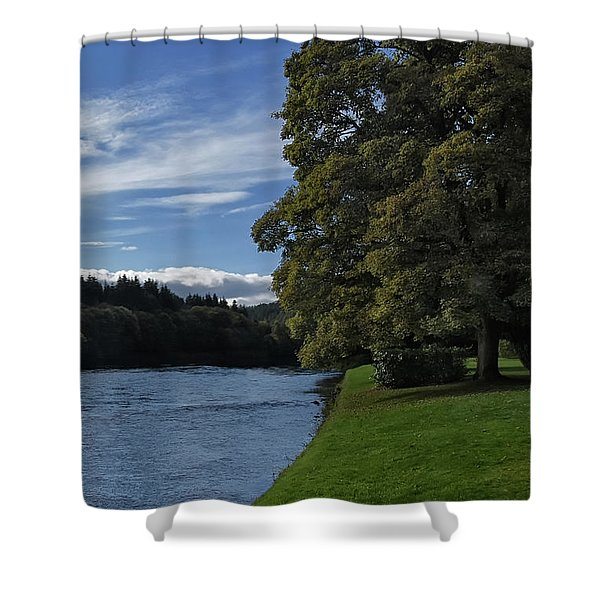 The Silvery Tay By Dunkeld Shower Curtain