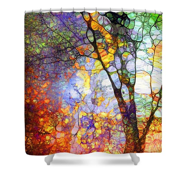 The Simple Tree Shower Curtain