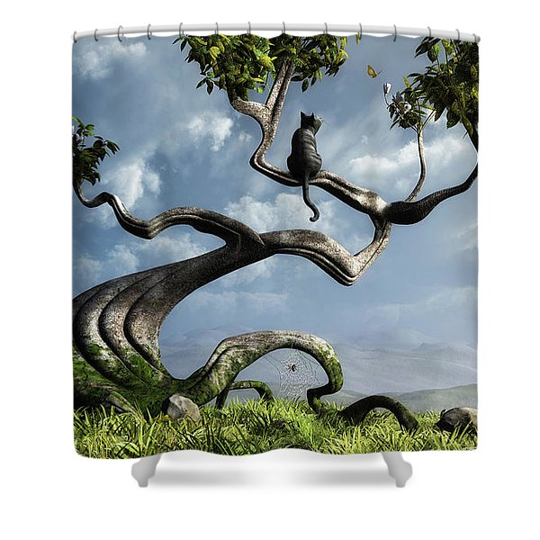 The Sitting Tree Shower Curtain