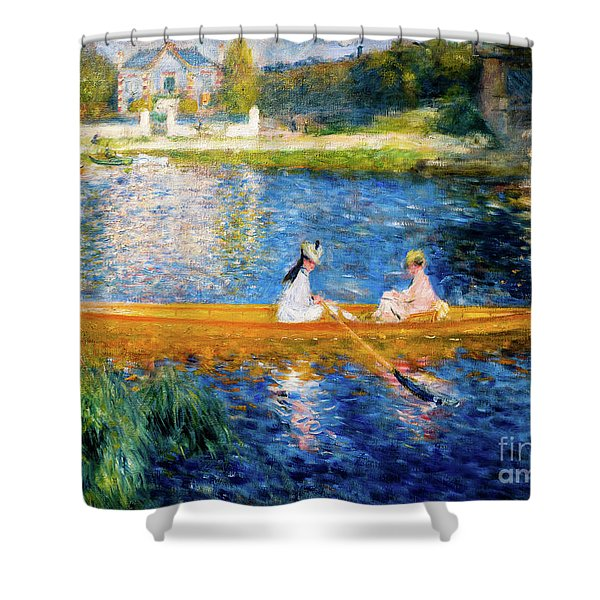 Renoir Boating On The Seine Shower Curtain