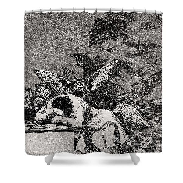 The Sleep Of Reason Produces Monsters Shower Curtain