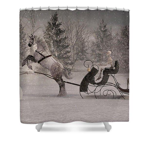The Snowman Shower Curtain