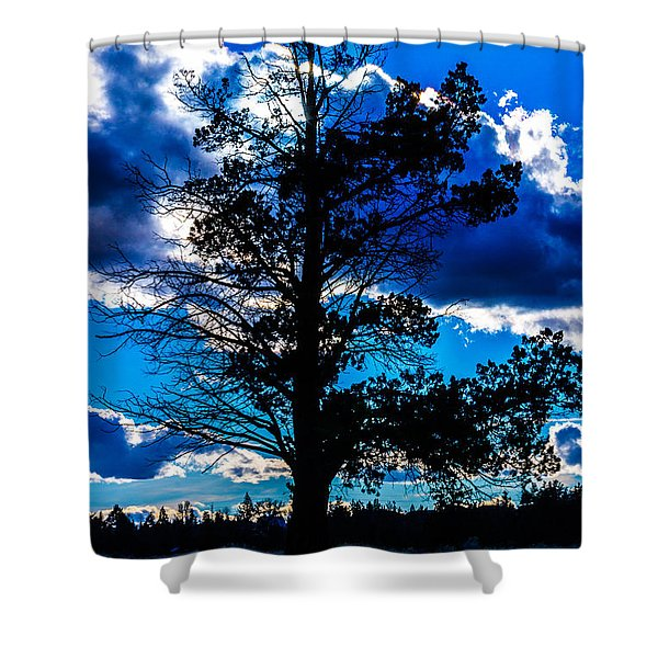 The Solstice Sunset Shower Curtain