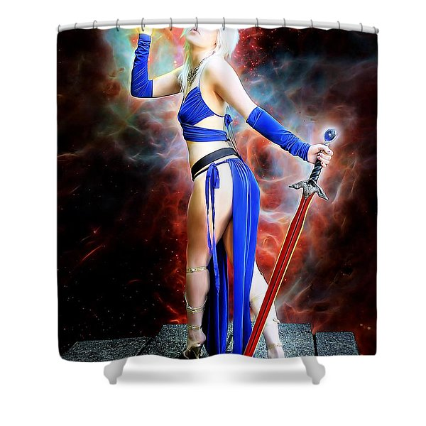 The Sorceress And The Sword Shower Curtain
