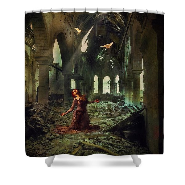 The Soul Cries Out Shower Curtain