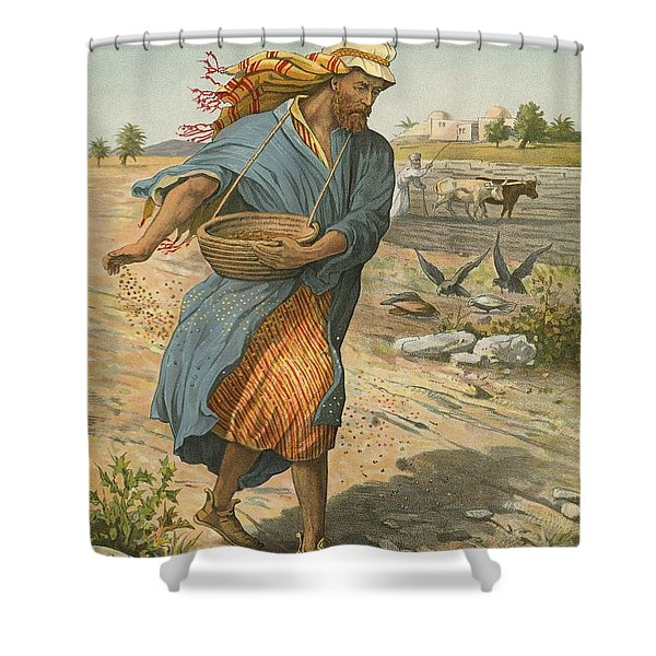 The Sower Sowing The Seed Shower Curtain