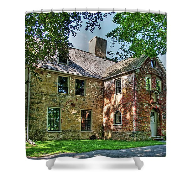 The Spencer-peirce-little House In Spring Shower Curtain