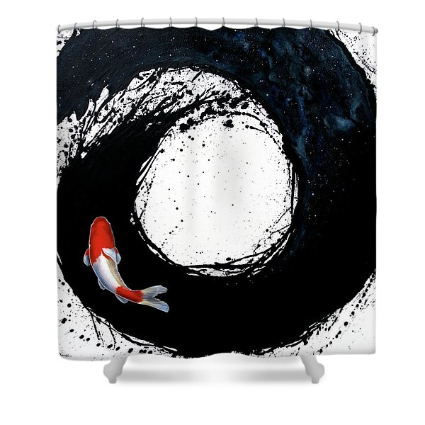 Shower Curtain featuring the painting The Spiral by Sandi Baker