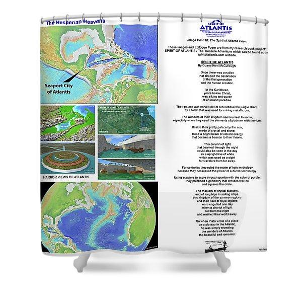 The Spirit Of Atlantis Poem Shower Curtain
