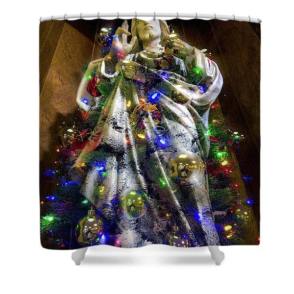 The Spirit Of Christmas Shower Curtain
