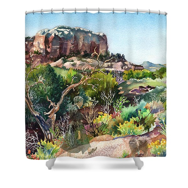 The Spirit Of Ghost Ranch Shower Curtain