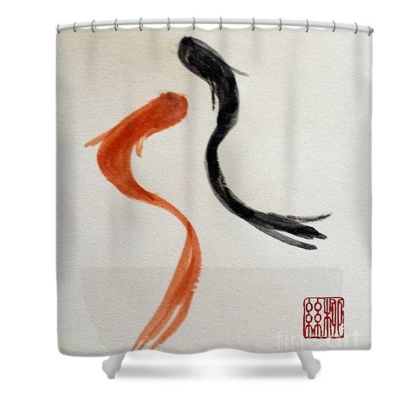 The Spirit Of Goldfish Shower Curtain