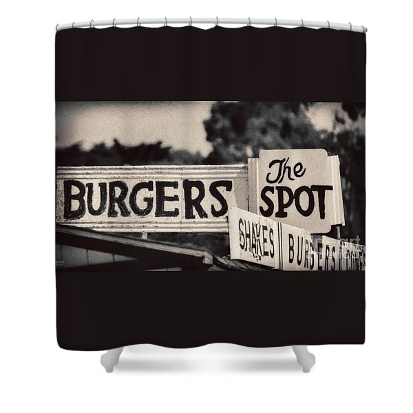 Shower Curtain featuring the photograph The Spot by David Millenheft