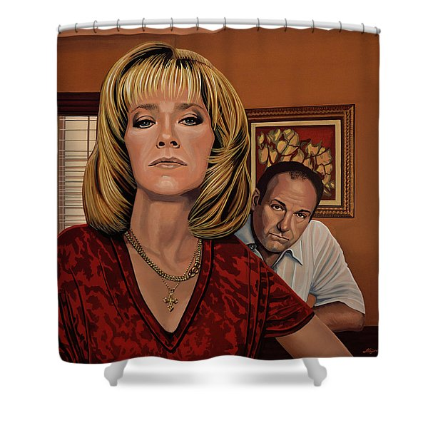 The Sopranos Painting Shower Curtain
