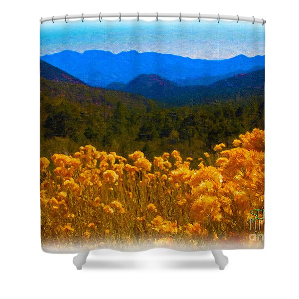 The Spring Mountains Shower Curtain