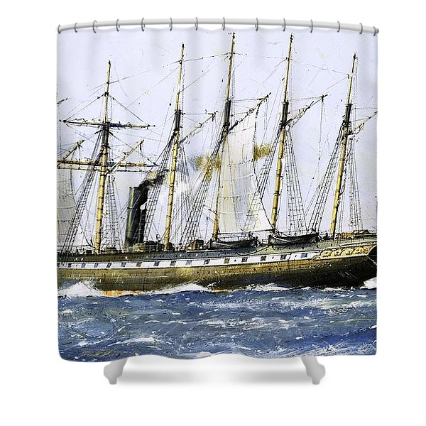 The Ss Great Britain Shower Curtain