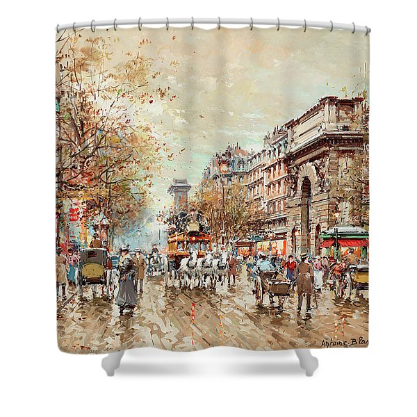 The St. Martin Gate, Paris Shower Curtain