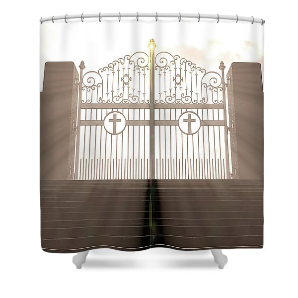 The Stairs To Heavens Gates Shower Curtain