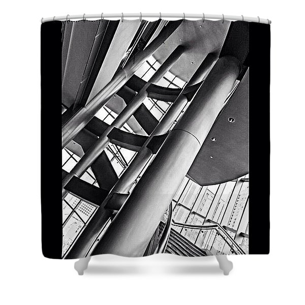 The #stairway In Our #downtown #houston Shower Curtain