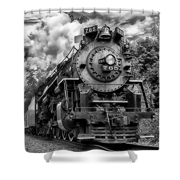 The Steam Age  Shower Curtain
