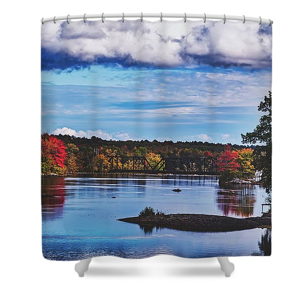 The Stillwater River In Maine Shower Curtain